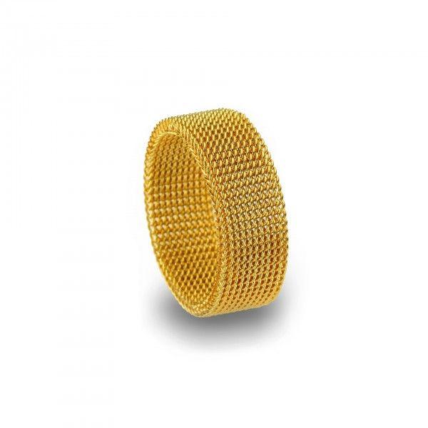 Aliança Anjewels Forever Love Gold Mesh - AA.A86G