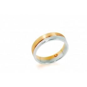 Aliança Romantis Crafted Love 9K - O9ALR002772