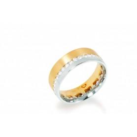 Aliança Romantis Crafted Love 9K - O9ALR003183