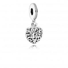 Conta Pendente PANDORA Intricate Heart Lock Hanging – 791876CZ