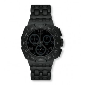 c3f3c7d6ab6 Relógio Swatch Originals Chrono Plastic Black Dunes Grey - SUIB413