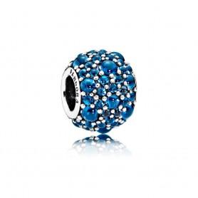 Conta PANDORA Pavé Droplets Azul – 791755NLB