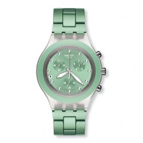 54c6891208f Relógio Swatch Irony Diphane Full-Blooded Mint - SVCK4056AG