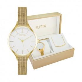 Relógio Eletta Kit Vogue Gold - ELA560LBMGX