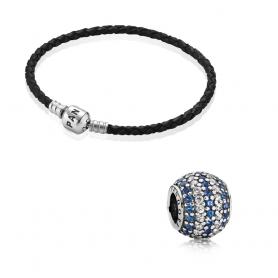 Set PANDORA Namorados - Azul 17.5 cm