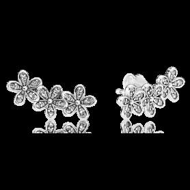 Brincos PANDORA Dazzling Daisy Clusters – 290744CZ