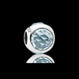 Conta PANDORA Radiant Droplet Azul Água – 792095NAB