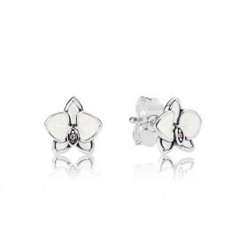 Brincos PANDORA White Orchid - 290749EN12