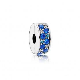 Clip PANDORA com Silicone Azul - 791817NSBMX