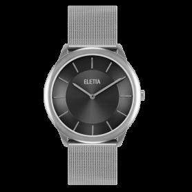 Relógio Eletta Design Silver Black - ELA310LPM