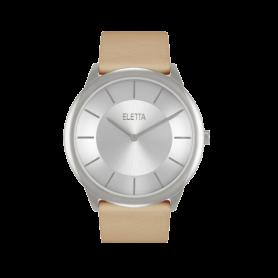 Relógio Eletta Design Leather Beige - ELA310LBC