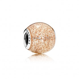 Conta PANDORA Glitter Dourado Rosa - 796327EN145