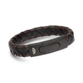 Pulseira Anjewels Forever Young Black & Brown Braid - AA.P196