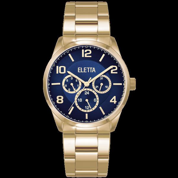 Relógio Eletta Westcoast Gold Blue - ELA270MAMG