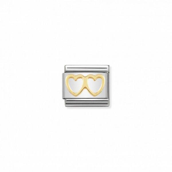Link Nomination Composable Classic Coração Duplo - 030116/03