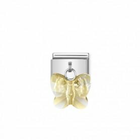 Link Nomination Composable Classic Borboleta Swarovski Dourada - 030604/28