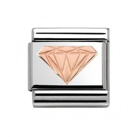 Link Nomination Composable Classic Diamante - 430104/18