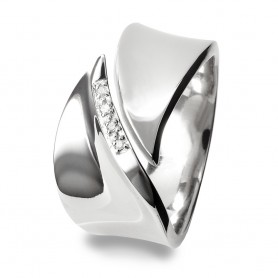 Anel Hot Diamonds Pave Leaf - DR076