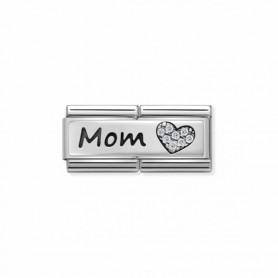 Link Nomination Composable Classic Double Mom e Coração - 330731/06