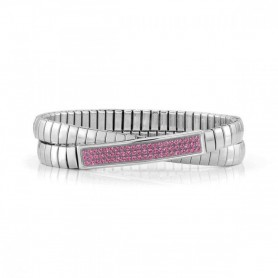 Pulseira Nomination Extension Glitter Dupla Rosa - 043211/030