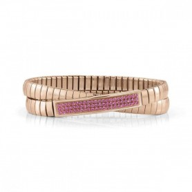 Pulseira Nomination Extension Glitter Dupla Rosa - 043215/030
