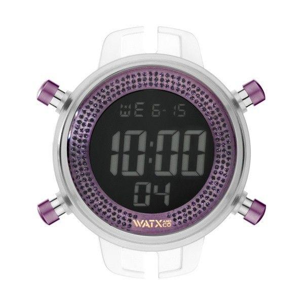 Relógio Watx and Co M Digital Sparkling Glitter Roxo - RWA1057