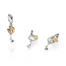 Conta Pendente PANDORA Key to My Heart - 796593