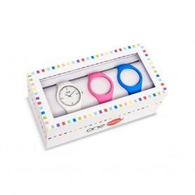 Relógio One Colors Box Slim Branca - OA2026MM71T