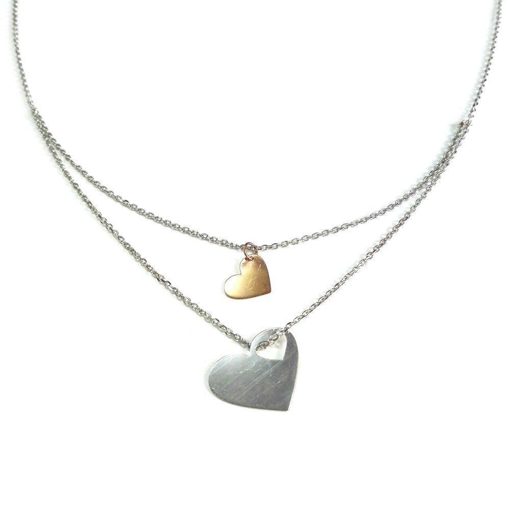 Colar Dia dos Namorados Corações Dourado - P0899308D