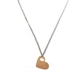 Colar Dia dos Namorados Coração Dourado Rosa - P0899306C