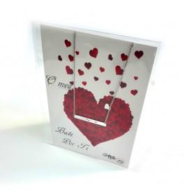 Colar Dia dos Namorados Chapa Coração - P0899302B