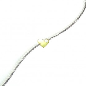 Pulseira Dia dos Namorados Coração Dourado - P0699306D
