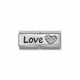Link Nomination Composable Classic Double Love e Coração - 330731/05