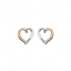 Brincos Hot Diamonds Glide Heart - DE471