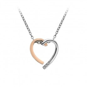 Colar Hot Diamonds Glide Large Heart - DP627