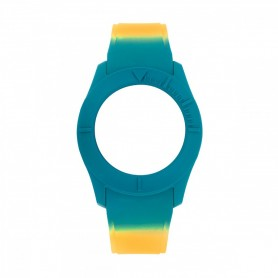 Bracelete Watx & Colors S Smart Psicotropical Laranja e Azul - COWA3598