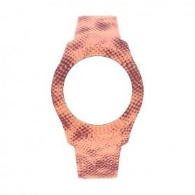 Bracelete Watx and Co M Pixel Coral e Castanho - COWA3060