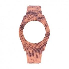 Bracelete Watx & Colors S Smart Pixel Coral e Castanho - COWA3560