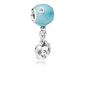Conta Pandora Elefante e Balão Azul - 797239EN169