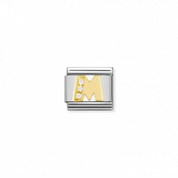 Link Nomination Composable Classic Letra M com Pedras - 030301/13