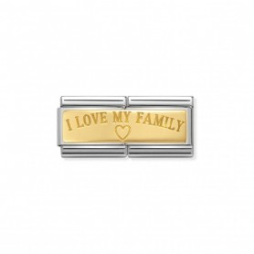 Link Nomination Composable Classic Double I Love My Family - 030710/03