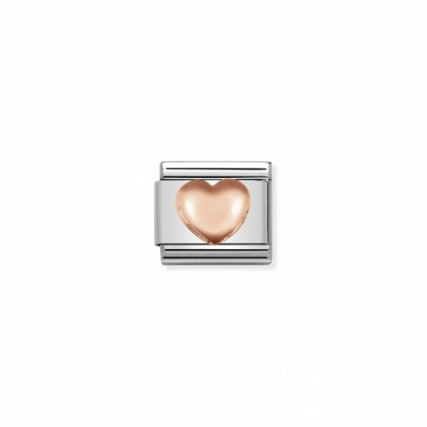 Link Nomination Composable Classic Coração em Alto Relevo - 430104/22