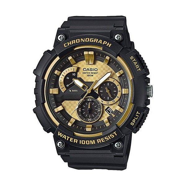 Relógio Casio Collection Analógico Dourado - MCW-200H-9AVEF