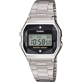 Relógio Casio Collection Digital Prateado - A158WEAD-1EF