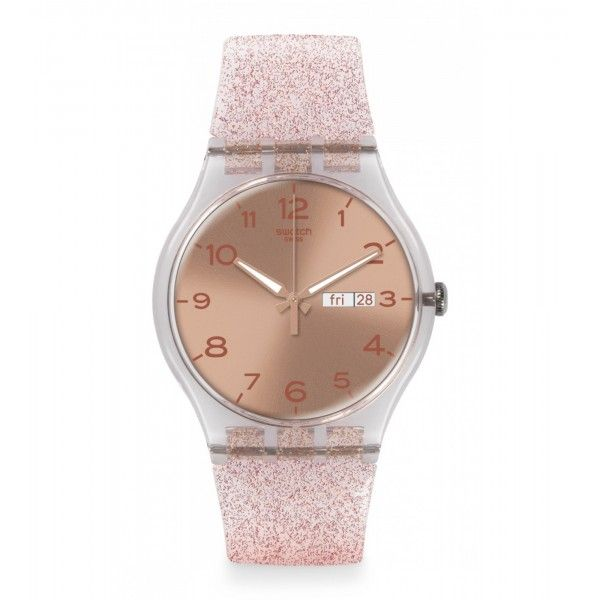 Relógio Swatch Originals New Gent Pink Glistar - SUOK703