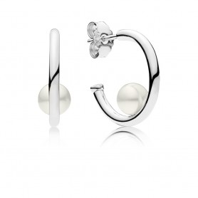 Argolas PANDORA Contemporary Pearls - 297528P