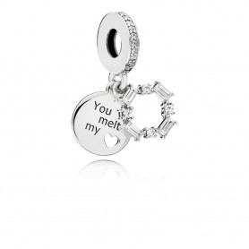 "Conta Pendente PANDORA ""You melt my Heart"" - 797553CZ"