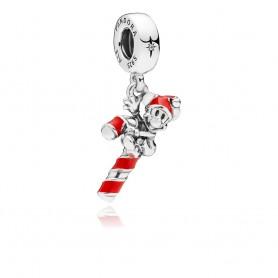 Conta Pendente PANDORA Disney Santa Mickey's Candy Cane - 797500EN09