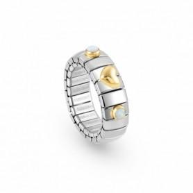 Anel Nomination Extension com Coração Ouro e Opala - 044608/022