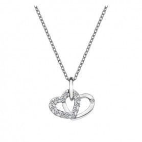 Colar Hot Diamonds Double Heart - DP682